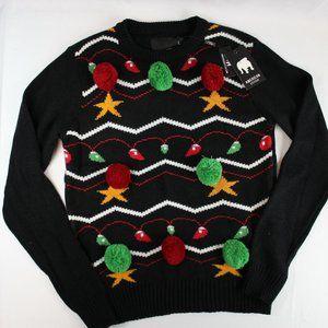 3/$60 Ugly Christmas Sweater Pom Pom Christmas Lrg